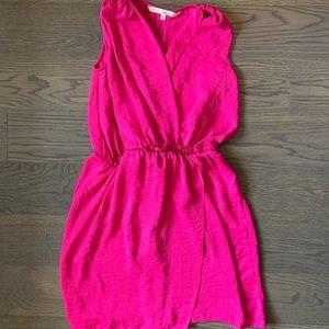 Rachel Roy Fuchsia V Neck Dress